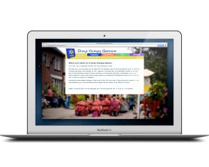 Website Oranje Vereniging Geesteren